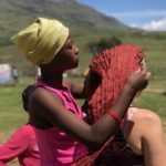 Head Scarf wrapping in South Africa