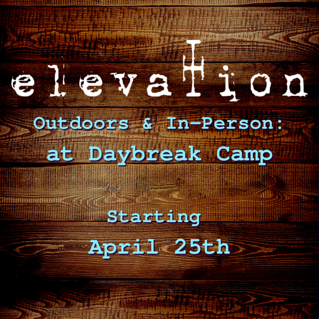 Outdoors and In-person service starting